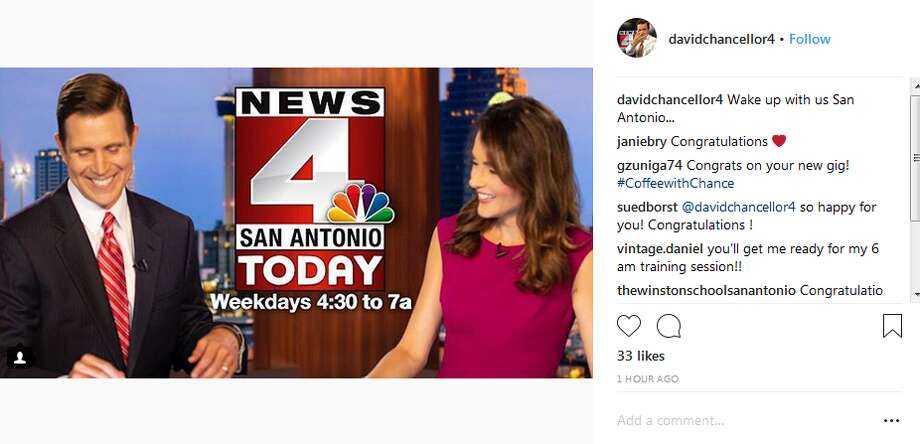 davidchancellor: 4Wake up with us San Antonio... Photo: Instagram Screengrab