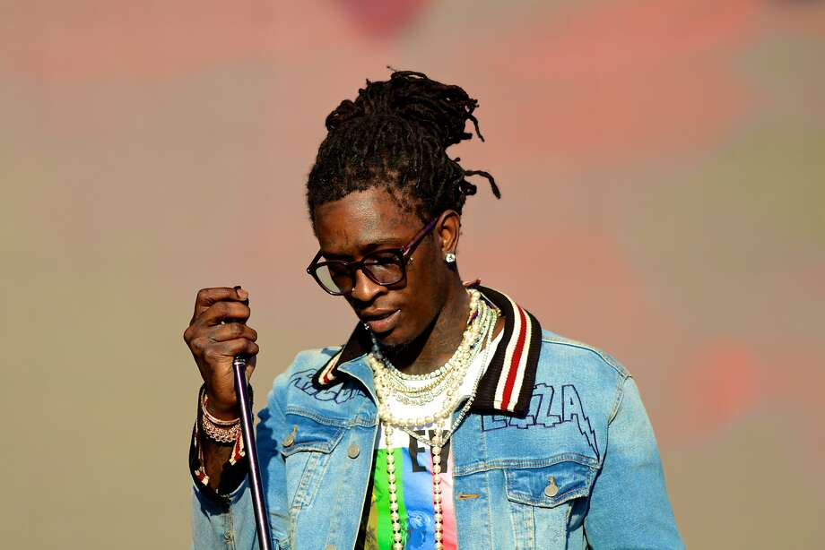 Young Thug, who is slated to perform in San Antonio tonight, was arrested in L.A. late Thursday on a weapons charge. Photo: Marco Torres