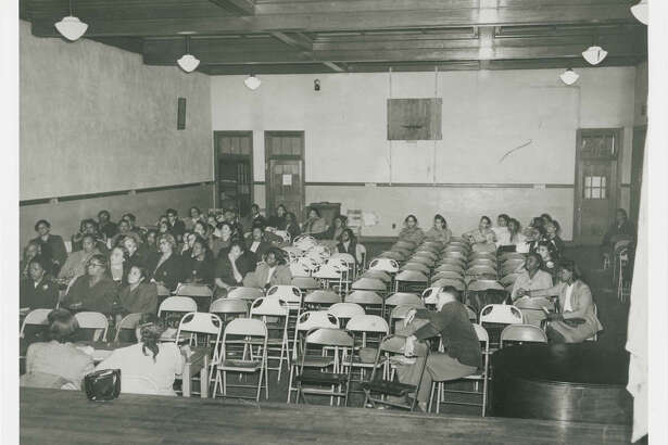 The stage in the auditorium at Moton High, where Barbara Rose Johns, 16, announced the strike on April 23, 1951.