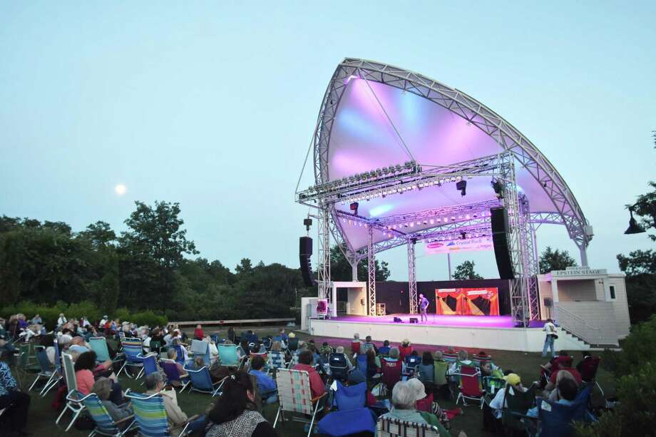 The Levitt Pavilion for the Performing Arts, on the banks of the Saugatuck River in Westport, presents over 50 nights of free entertainment. Photo: Mike Horyczun / For Hearst Connecticut Media / Norwalk Hour freelance