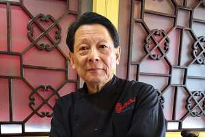 """Lawrence Chu in his restaurant. Chef Chu's was founded in Los Altos, Calif. nearly five decades ago. The owners of the restaurants are also the parents of Jon M. Chu, who directed """"Crazy Rich Asians."""""""