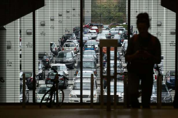 A parking lot at the Rockridge BART station on Wednesday, Aug. 15, 2018, in Oakland, Calif.