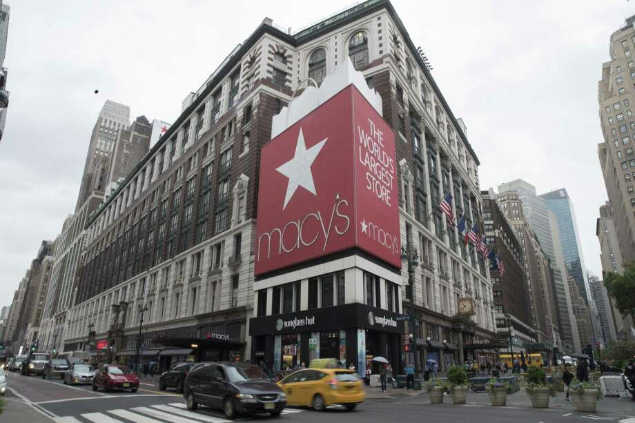 In this May 16, 2018, file photo, traffic makes its way past the Macy's flagship store in New York. Macy's Inc. reported earnings Wednesday, Aug. 15. Photo: Mary Altaffer /Associated Press / Copyright 2018 The Associated Press. All rights reserved.