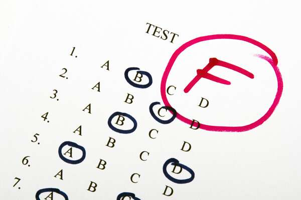 test results in school, selective focus