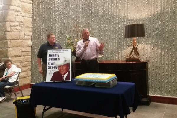 Plainview Mayor Wendell Dunlap was among the speakers at the 90th birthday bash for Jimmy Dean.