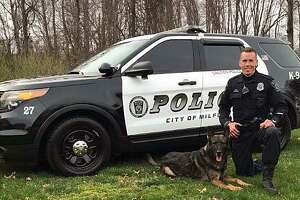 Milford police K9 Zar, a 4.5-year-old German Shepherd, got the armor from Vested Interest in K9s Inc. Zar is certified in patrol work and works alongside to his two-legged partner, Officer Sean Owens.