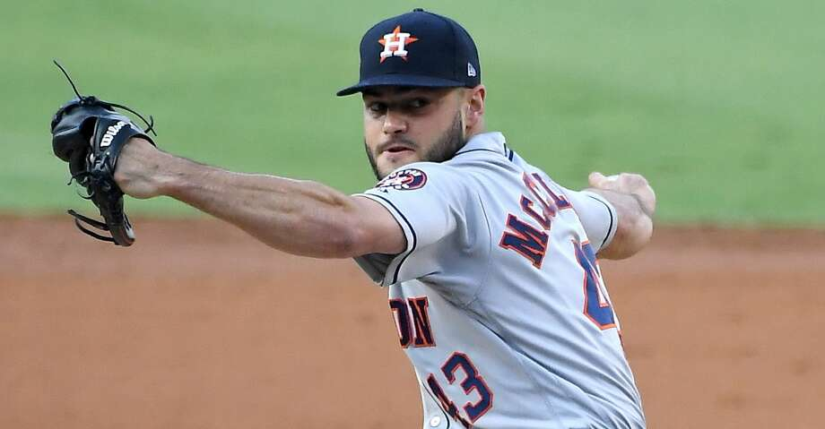 LOS ANGELES, CA - AUGUST 04:  Lance McCullers Jr. #43 of the Houston Astros pitches in the second inning of the game against the Los Angeles Dodgers at Dodger Stadium on August 4, 2018 in Los Angeles, California.  (Photo by Jayne Kamin-Oncea/Getty Images) Photo: Jayne Kamin-Oncea/Getty Images