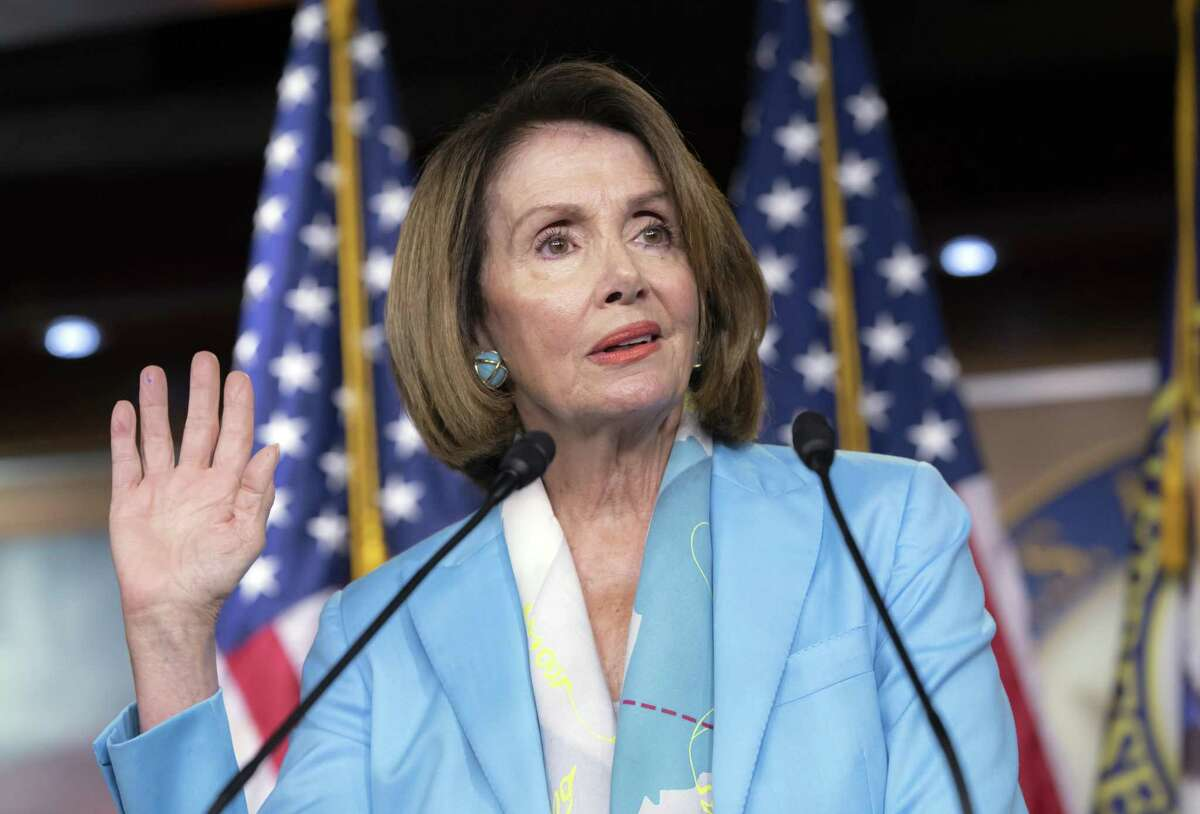 """House Minority Leader Nancy Pelosi, D-Calif., accused Trump of trying to """"usurp the power of Congress"""" to spend money."""