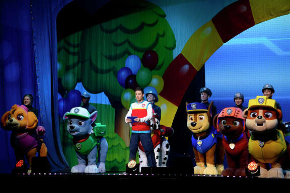 The cast of Paw Patrol Live performs at Ford Park.  Photo taken Wednesday 8/15/18 Ryan Pelham/The Enterprise