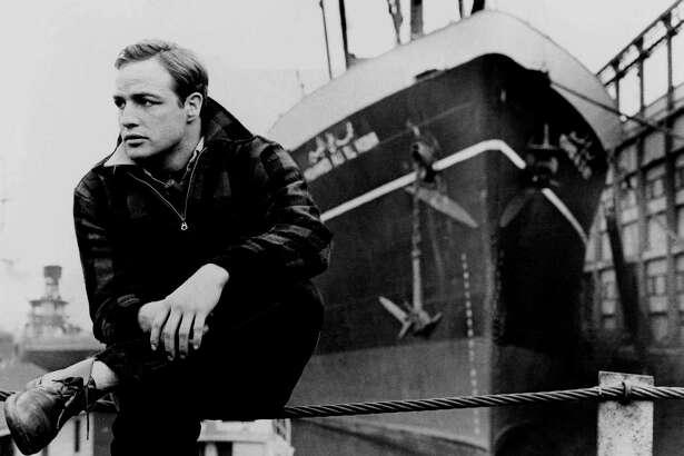 "Marlon Brando stars in ""On the Waterfront."""