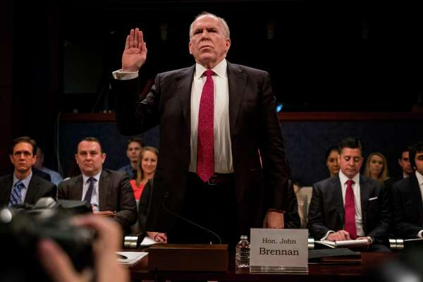 Former CIA director John Brennan testified before the House Intelligence Committee on the Russia investigation in Washington, D.C. Must credit: Washington Post photo by Melina Mara
