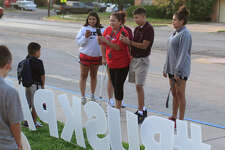 Families drop off children at Rusk Elementary for the first day of school Aug. 15, 2018. James Durbin/Reporter-Telegram