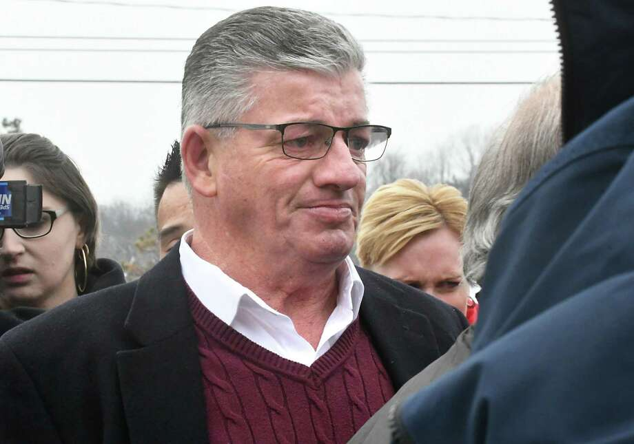 North Greenbush Town Supervisor Lou Desso is seen at a walking out-ceremony for retiring Chief Robert Durivage at the North Greenbush Police Department on Friday, Feb. 9, 2018, in North Greenbush, N.Y. State Police have opened an investigation into the questionable ethical practices of Desso, who took office in January 2016. (Lori Van Buren/Times Union archive) Photo: Lori Van Buren / 20042900A