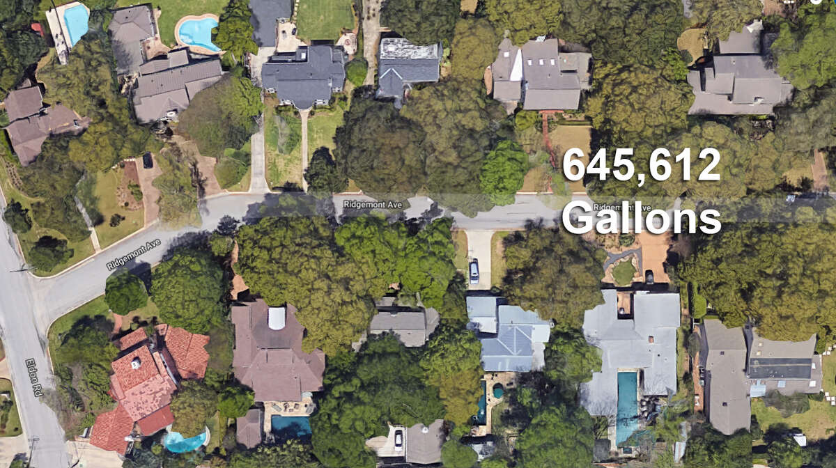 19. A home in Terrell Hills owned by Micheal R. Kiolbassa used 645,612 gallons between Jan. 1-July 31, 2018. Reached for comment, Nita Kiolbassa, a resident of the home, said the high usage was a result of three major leaks in their back alley that were very upsetting to their family.