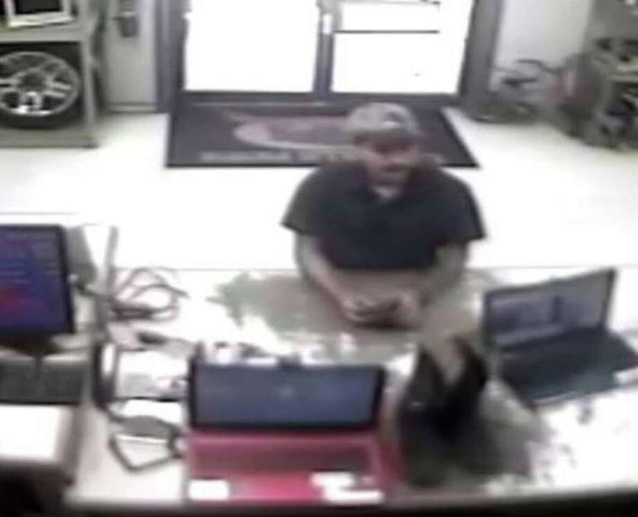 Police are trying to identify a man accused of pawning several items while using a stolen identification. Photo: Laredo Police Department