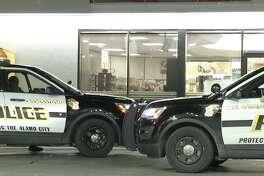 The suspects raided the gas station in the 7600 block of Jones Maltsberger Road around 3:30 a.m. and demanded all the money in the registers and the safe from the lone, 24-year-old employee inside.