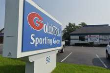 A view of Goldstock's Sporting Goods store on Thursday, Aug. 16, 2018, in Glenville, N.Y. The store has been closed by the owners. (Paul Buckowski/Times Union)