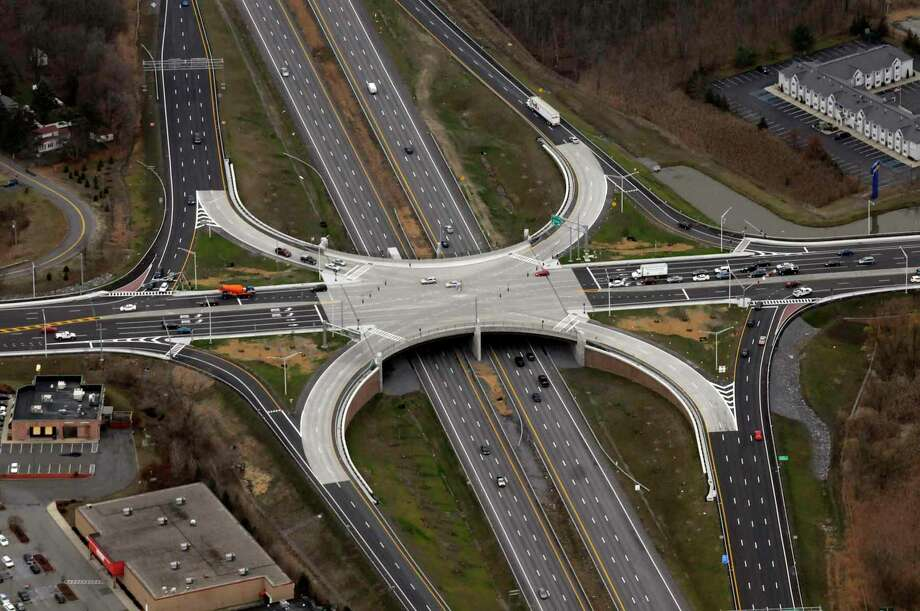 The Northway I-87 Exit 6 interchange in Latham in 2010. ( Michael P. Farrell/Times Union ) / 0001253A