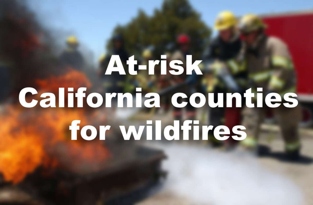 At-risk California counties for Wildfires