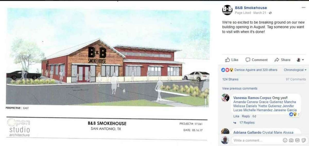 B&B Smokehouse shared this rendering of its new facility on its Facebook page.