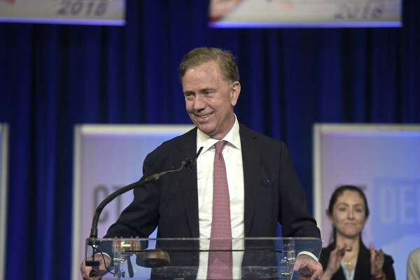Ned Lamont speaks in May 2018 after receiving the nomination for governor at the 2018 Connecticut Democratic State Convention in Hartford, Conn.