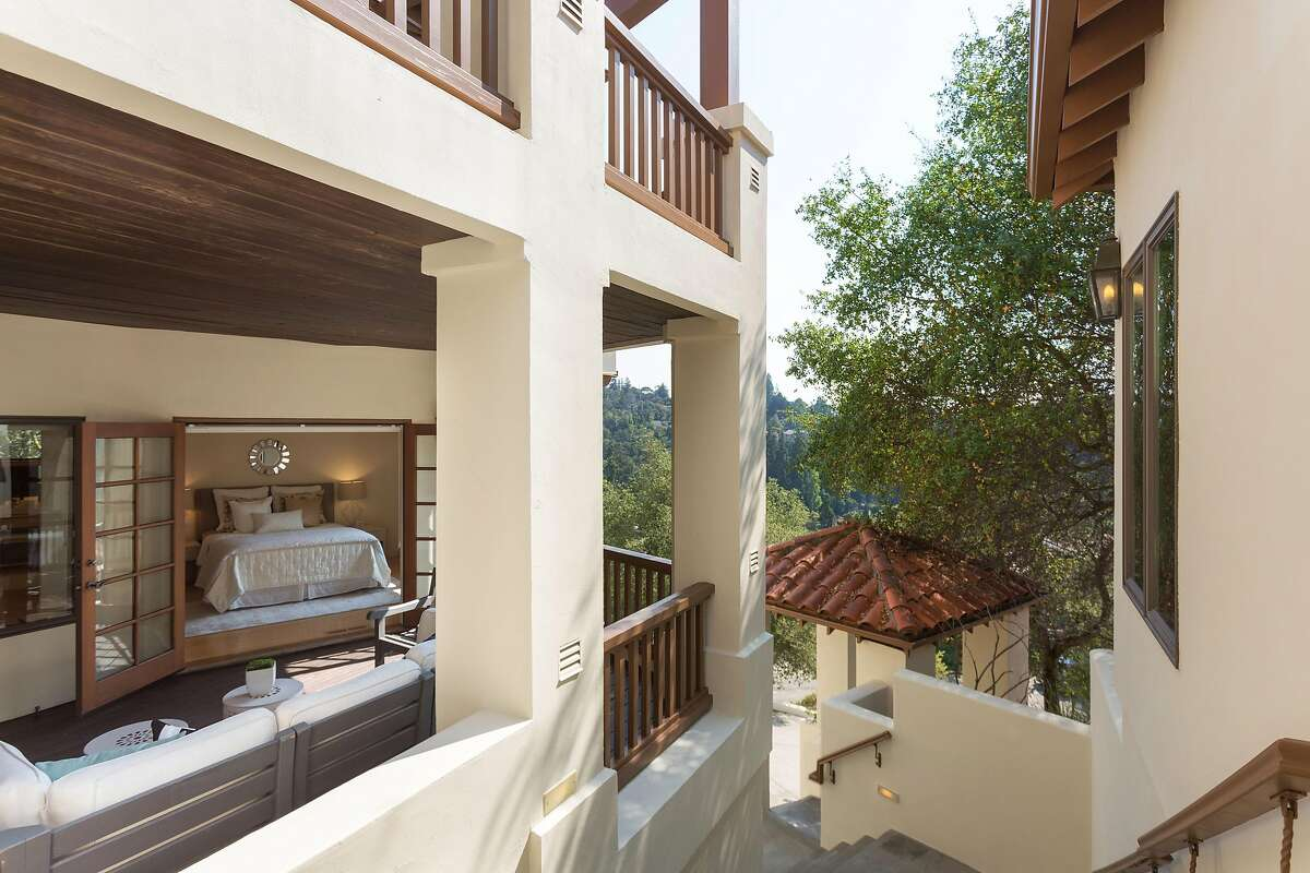 The Mediterranean home offers outdoor spaces on every level.�