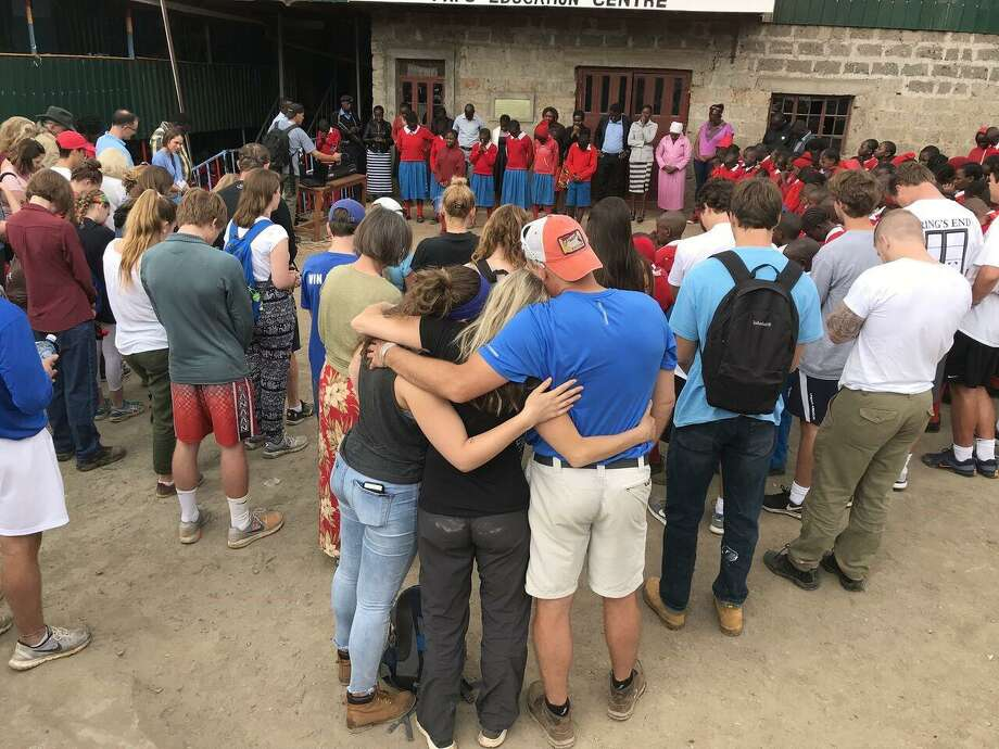 Volunteers and members from the community in Kenya gathered together. Photo: /provided By Gary Morello.