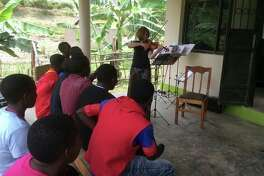 A teacher instructs students in Muko, Uganda. (Photo provided)