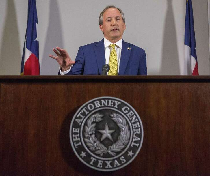 Texas Attorney General Ken Paxton at his office in downtown Austin. (Stephen Spillman / for Express-News)