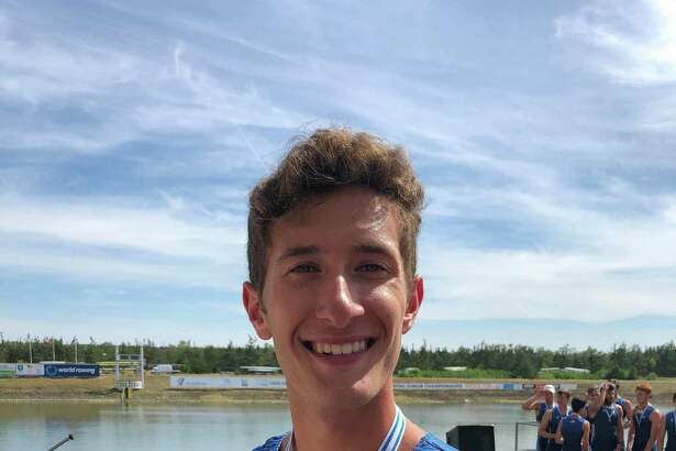 Westport's Harrison Burke won a silver medal in the Men's 8+ boat at the U.S. Rowing World Junior Championships in Prague, Czech Republic. This was the third year medaling at the World Junior Rowing Championships for Burke.