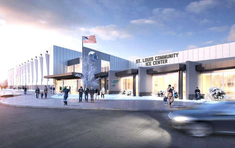 An architect's rendering of the new St. Louis Blues/Maryland Heights ice training facility. The Blues officially broke ground on the facility Thursday. Photo:       File Photo