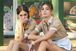 """Maia Mitchell, left, and Camila Morrone in """"Never Goin' Back."""""""