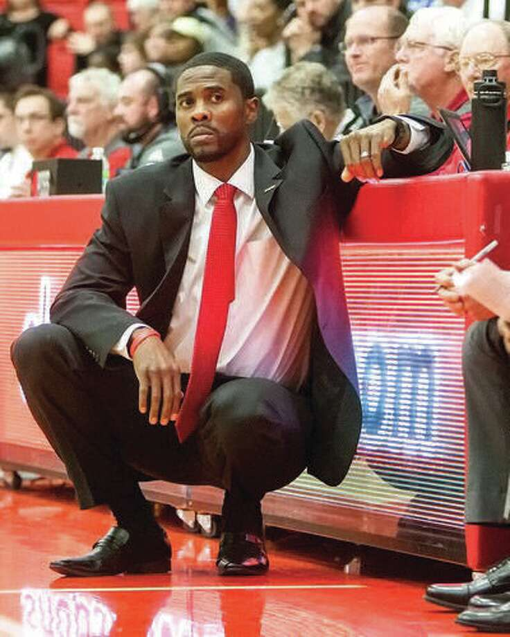 SIUE men's basketball coach Jon Harris and his Cougars will play host to the SIU Carbondale Salukis on Dec. 1. The SIUE schedule was released Thursday. Photo:       SIUE Athletics