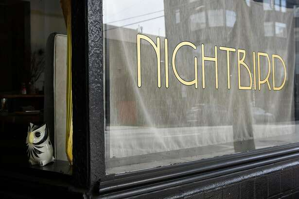 An owl statue sits in the front window at Nightbird restaurant in San Francisco, Calif., Friday March 30, 2018.