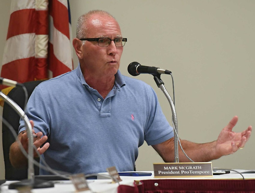 Mark McGrath at a July 2017 City Council meeting at Troy City Court. (Lori Van Buren / Times Union)
