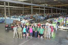 Shortly after Hurricane Harvey devastated the greater Houston area, Interfaith of The Woodlands set up a donation center at the Falcon Steel America warehouse in Conroe.