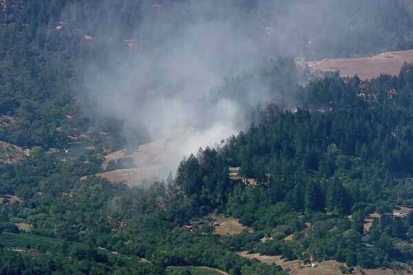 A vegetation fire just west of Madrona Manor in Healdsburg has prompted mandatory evacuations, officials announced Thursday afternoon.