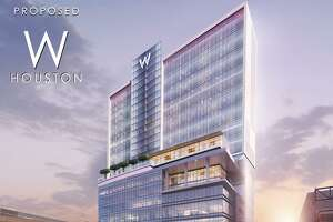 Rendering of W hotel proposed for downtown Houston