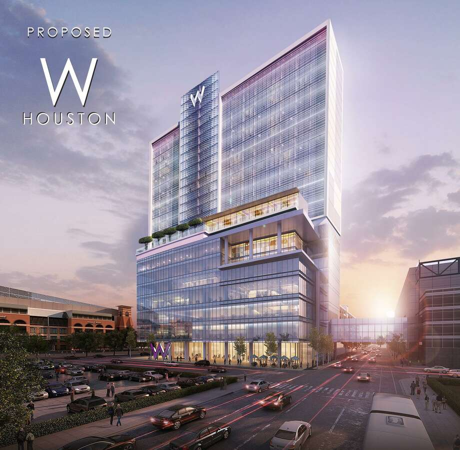 Rendering of W hotel proposed for downtown Houston Photo: Courtesy Of Texas Hospitality Partners