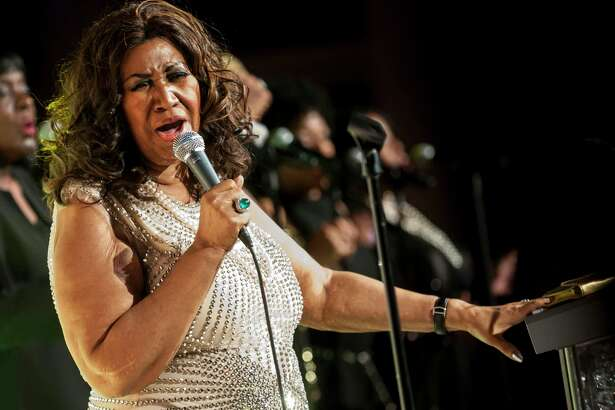 "FILE -- Aretha Franklin performs in New York on Oct. 22, 2013. Franklin, universally acclaimed as the ?""Queen of Soul?"" and one of America?'s greatest singers in any style, died on Aug. 16, 2018, at her home in Detroit, her representative, Gwendolyn Quinn, said. She was 76. (Karsten Moran/The New York Times)"