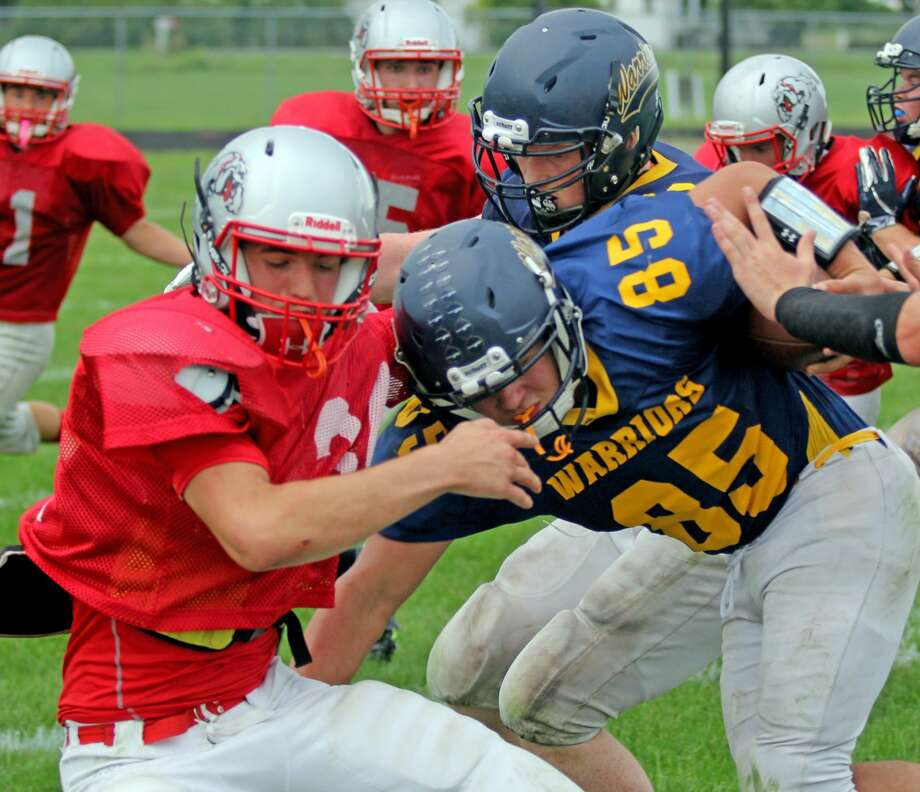 Owen-Gage at North Huron Scrimmage 2018 Photo: Mike Gallagher/Huron Daily Tribune