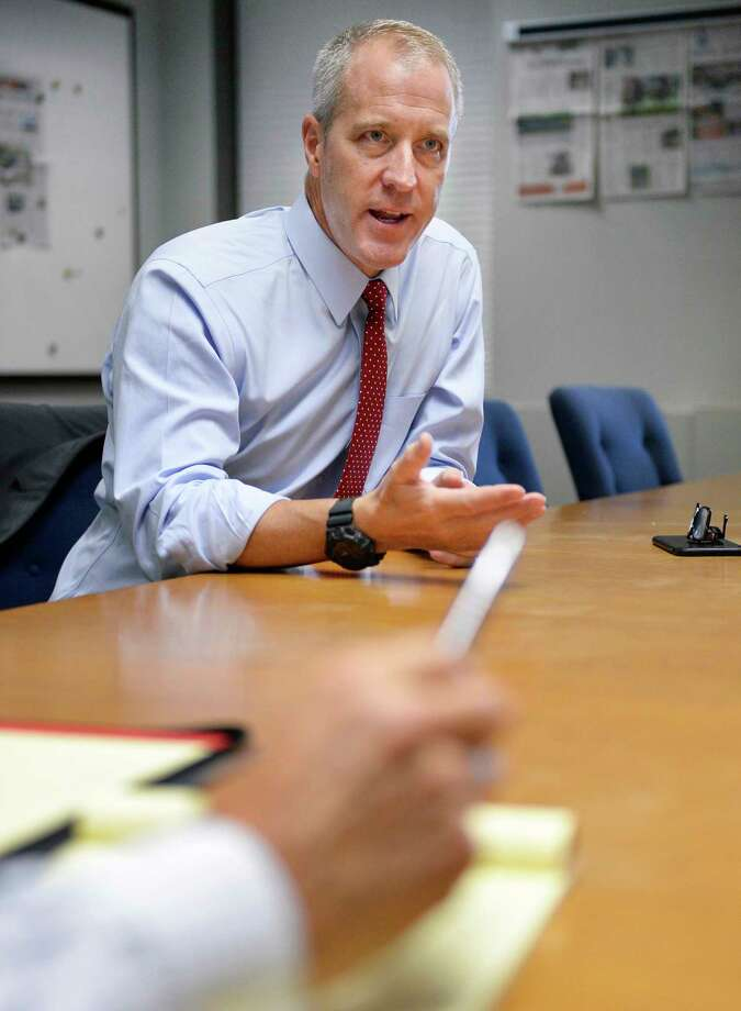 Democratic candidate for New York attorney general, U.S. Rep. Sean Patrick Maloney meets with the Times Union editorial board Thursday August 16, 2018 in Colonie, NY.  (John Carl D'Annibale/Times Union) Photo: John Carl D'Annibale / 20044594A