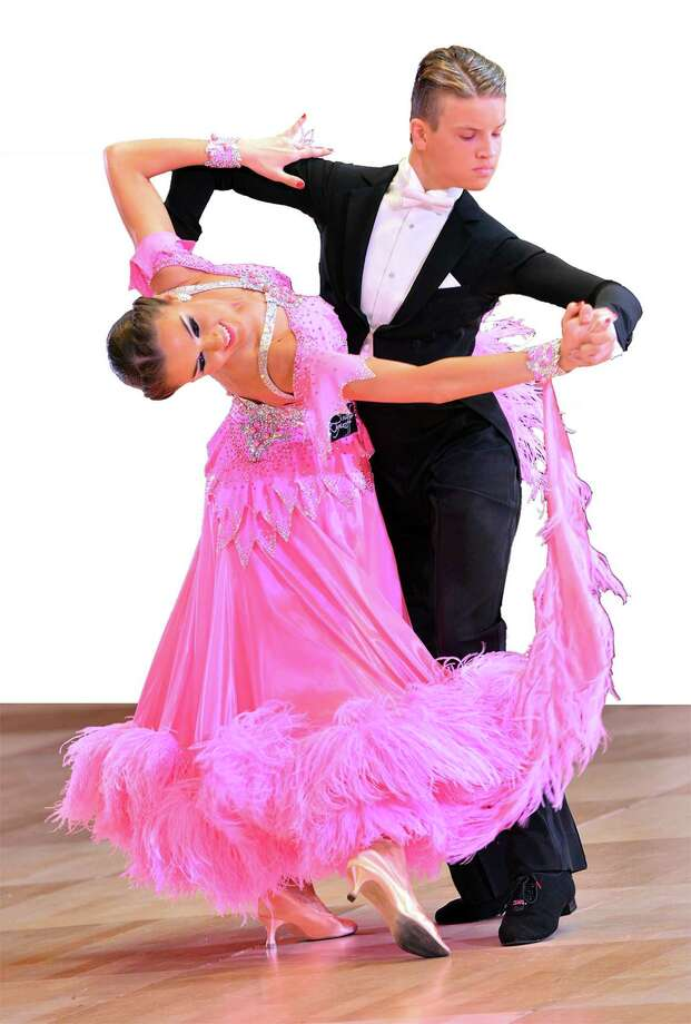Teen dancers Kristers Smits and Liza Shlimovich, the United States Amarteur Youth and Latin ballroom champions, will perform in Bridgeport. Photo: Courtesy Of Bob Beslove