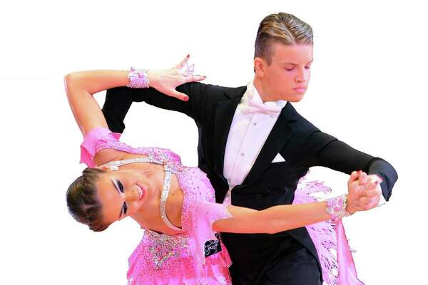 Teen dancers Kristers Smits and Liza Shlimovich, the United States Amarteur Youth and Latin ballroom champions, will perform in Bridgeport.