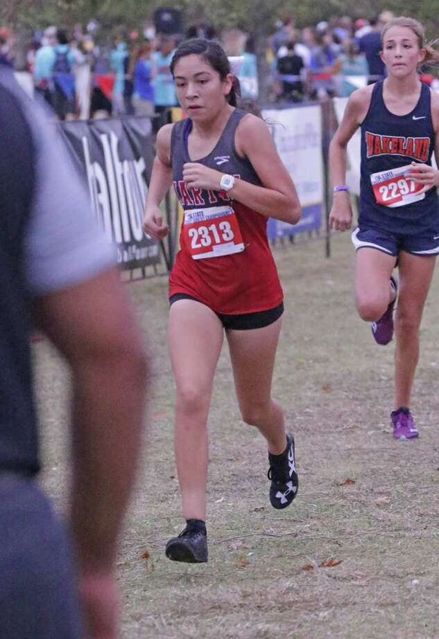 Martin's Samantha Gonzalez, United's Alex Munoz and Nixon's Alexa Rodriguez lead a contingency of Laredo runners that will compete on Monday at the Region IV Cross Country Championships looking for a state berth. Gonzalez and Rodriguez were the city's two representatives a year ago while Munoz nearly joined them. Photo: Clara Sandoval / Laredo Morning Times