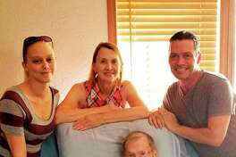Edwin 'Bud' Osterhout, Daughter Gail, Grandson Paul, Great-Granddaughter Danielle and Great-Great-Grandson Kyler. (photo provided)