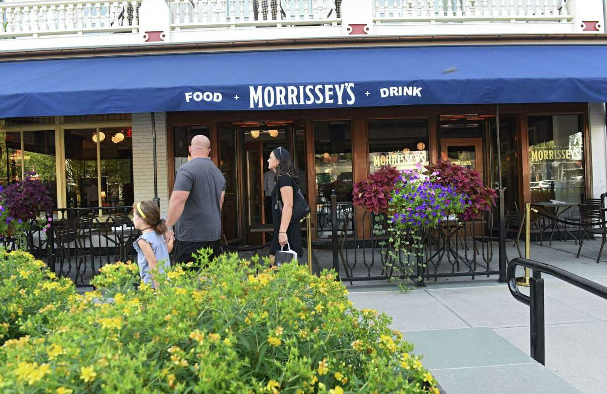 Morrissey's Lounge at the Adelphi n Saratoga Springs:Quiet to loud, depending when you go.