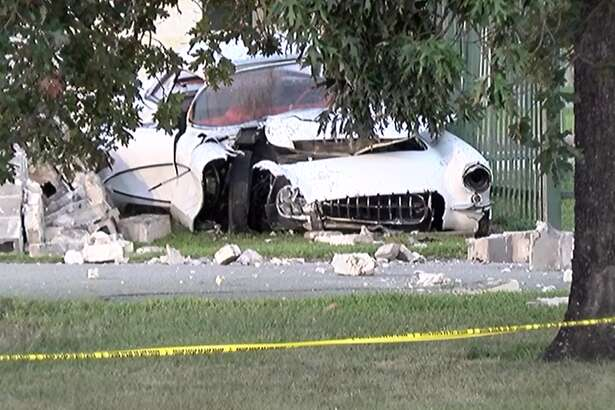 The driver was killed Friday, Aug. 17, 2018, after striking a concrete pillar at the entrance of the Conroe-North Houston Regional Airport, according to authorities.