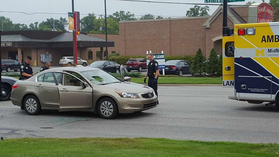 The intersection of Saginaw and Eastlawn was closed this morning after a motorist experienced a medical emergency. Photo: Kelly Dame
