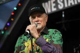 """HOLLYWOOD, CA - DECEMBER 06: Singer Mike Love of The Beach Boys performs onstage during a special in-store performance in support of his solo album """"Unleash the Love"""" at Amoeba Music on December 6, 2017 in Hollywood, California. (Photo by Scott Dudelson/Getty Images)"""